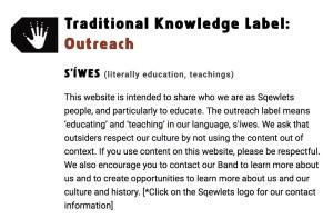 Scowlitz outreach